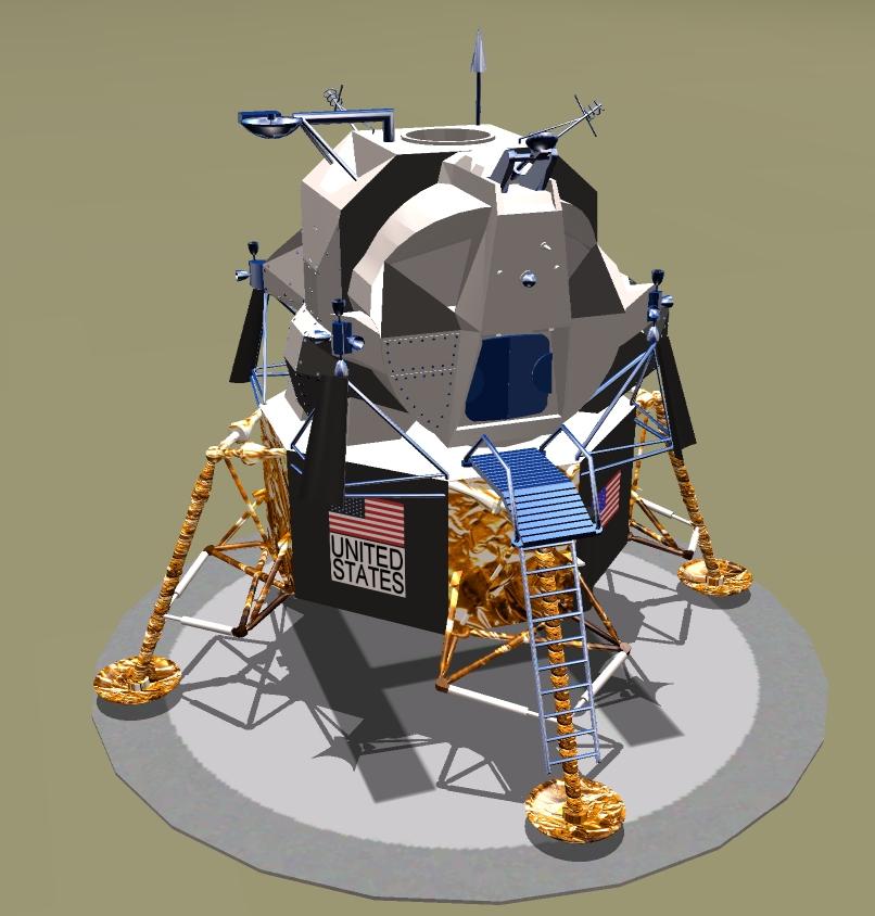 Apollo Lunar Lander Model - Pics about space